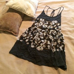Intimately Free People Black Floral Swing Dress